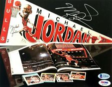 MICHAEL JORDAN (Chicago Bulls) Signed 8x10 PHOTO w/ Beckett LOA