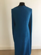 Teal/White Melange Polyester/Viscose Woven Dressmaking Fabric-1.25/2.5 metres