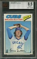 1977 topps #144 BRUCE SUTTER chicago cubs rookie card BGS BVG 8.5