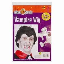 Fancy Dress Scary Halloween Dracula Vampire Wig Black