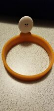 JOIE Silicone Egg/Pancake Ring maker w/Handle  Round Pancake Sandwich Maker