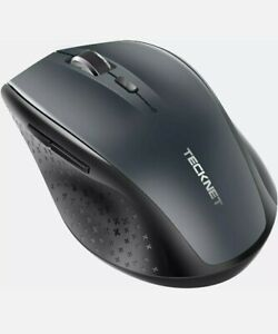 Tecknet Bluetooth Wireless 3000 DPI Cordless Optical PC Laptop Mouse BM308 GREY