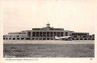 Washington DC District of Columbia Postcard RPPC c1920 NATIONAL AIRPORT Airplane