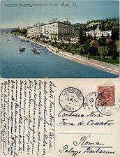 Cernobbio, lago di como, Grand Hotel Villa D'Este, colorata viaggiata 1914