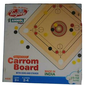 TRAVEL CARROM BOARD w/ PIECES & INSTRUCTIONS carom traditional ethnic r1000