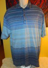 Men's Nike Tiger Woods Short Sleeve Polo Shirt Size Large Blue Striped