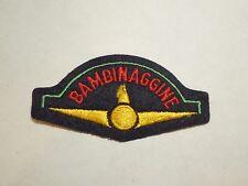 Vintage Bambinaggine Logo Design Iron On Patch