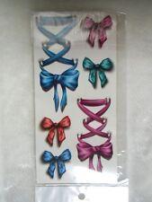 Tatouages temporaires tattoo corsets noeuds rubans couleurs originaux pin-up