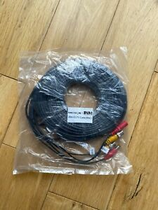2 x 25M BNC DC Power Lead CCTV Security Camera DVR Video Record Extension Cable