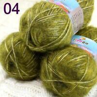 Sale 3SkeinsX50gr Fluffy Soft NEW MOHAIR Cotton Shawls Hand Knit Crochet Yarn 04