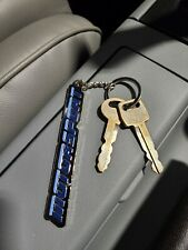 MOTORSPORT  Keychain Two-tone Blue Ford Mustang Foxbody Throwback 80s 90s