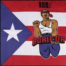 PUERTO RICO 100% BORICUR FLAG BANDANA Cotton Scarves Scarf Head Band Skull Wrap