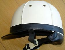 Retro Vintage 1950 Estilo Cuero Moto Racing Coche Scooter Crash Casco