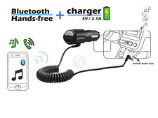 3 in 1 Stereo Music Handsfree USB Charger Car AUX Bluetooth Receiver Adapter