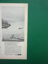 10/1974 PUB KAMAN HELICOPTER SH-2F LAMPS SEASPRITE ELECTRONIC WARFARE FRENCH AD