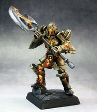 Golden Guardian Reaper Miniatures Pathfinder Golem Contruct Monster Melee Axe