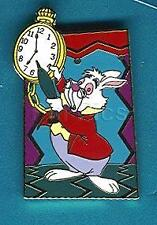 Disney Small World #6 'That It's Time We're Aware white Rabbit Pin