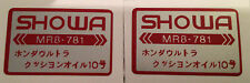 HONDA NC30 VFR400R FRONT FORK SHOWA CAUTION WARNING LABEL DECALS X 2