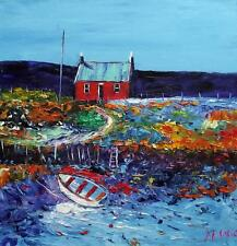 RED COTTAGE SOUTH UIST : HEBRIDEAN COLOURIST  OIL PAINTING : NATALIE SOUTER