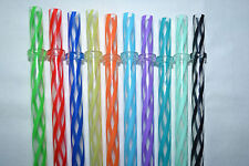 Reusable Straws Clear Swirly Colored Hard Plastic Acrylic Rings BPA Free #1