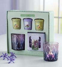 YANKEE Candle Lilac Blossoms Sage Citrus VOTIVE Floral TEA LIGHT Holder GIFT SET