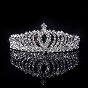 Wedding Bride Princess Crystal Rhinestone Crown Children Hair Ornament Accessory