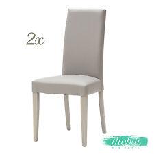 Sedia Moderna in Ecopelle color Grigio - 2 Pezzi SPEDIZIONE GRATIS