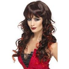 Devil Wig Halloween Ladies Vampire  Fancy Dress Adults Costume Party Womens Wig