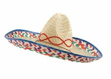 Mexican Sombrero Western Bandit Fancy Dress Straw Hat Costume Accessory Stag Do
