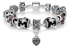 Pandora/lovelinks style women silver plated charm bracelet