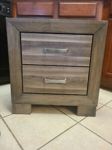 New Light Grey Nightstand/Bedstand with Silver Handles!!