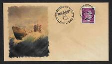 U-Boat Collector's Envelope with genuine 1941 Hitler Postage Stamp *623OP