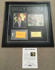 GENE WILDER Signed WILLY WONKA Full Cast 8x10 PHOTO & GOLDEN TICKET Framed PSA