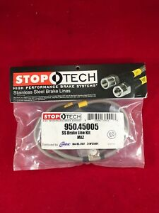 STOPTECH STAINLESS STEEL FRONT BRAKE LINE 04-11 MAZDA RX8 RX-8 SE3P  950.45005
