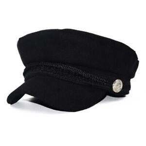 Women Baker Boy Peaked Cap Ladies Girl Wool Blend Casual Newsboy Hat Winter Warm