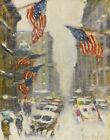 Guy Wiggins Madison Avenue Winter Canvas Print 16 x 20     #3500