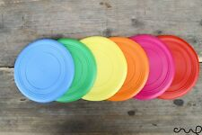 Silicone Frisbee Colourful Training Fetch Toy Soft Flying Outdoor Play Game