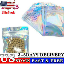 Silver Clear Self Seal Bags Plastic Retail Packaging Candy Pouches Reclosable