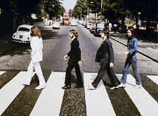 """The BEATLES Abbey Road Rock Music Rare Photo Art Painting 16""""x20"""" with mat frame"""