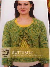 Juniper Moon Single Pattern J903 Findley - Butterfly Ruffled Sweater Twinset.