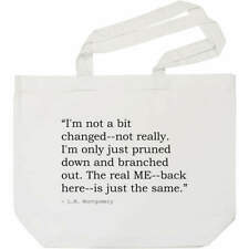 Quote By L.M. Montgomery Tote Shopping Bag For Life (BG00015598)