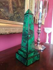 Faux Malachite Obelisk Marble French / Russian Empire Style