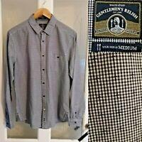 "White Stuff Gentlemen's Relish Check Blue Shirt M Slim Fit Chest 42"" 100% Cotton"