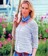 ~ Knitting Patterns for lady's Lacy Cardigan & Child's sweater ~
