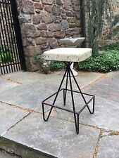 Rare Mid Century Mod Frederic Weinberg Bar Counter Drafting Stool Eames Knoll