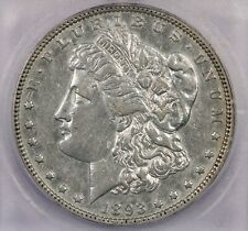 1893-P 1893 Morgan Silver Dollar S$1 ICG AU50 Details Cleaned Vam- 4 Top 100