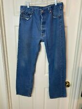 Vintage Levis 501 Button Fly Front 40 x 36 actual 37 x 32.5 wpl 423 Denim