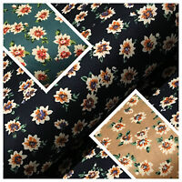 "Floral vintage Ditsy 100% Cotton Poplin Printed Craft dress Fabric 58"" M674"