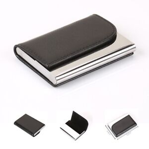 Mens Wallet Luxury Leather Slim Business Card Leather Cash Magnetic Card Holder
