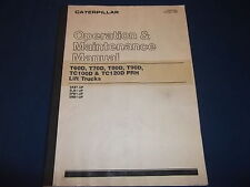 CAT CATERPILLAR T60D T70D T80D T90D T100D FORKLIFT OPERATION MAINTENANCE MANUAL